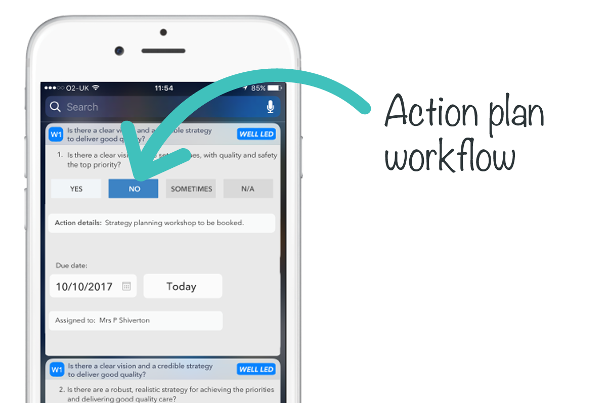 Action plan workflow